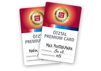 Enjoy the many advantages of the Ötztal Premiumcard